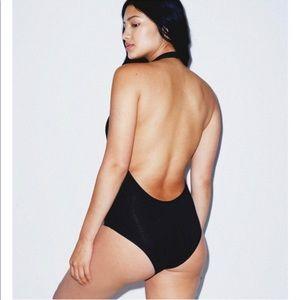 American Apparel Tops - American apparel black low neck backless leotard d354dc51d